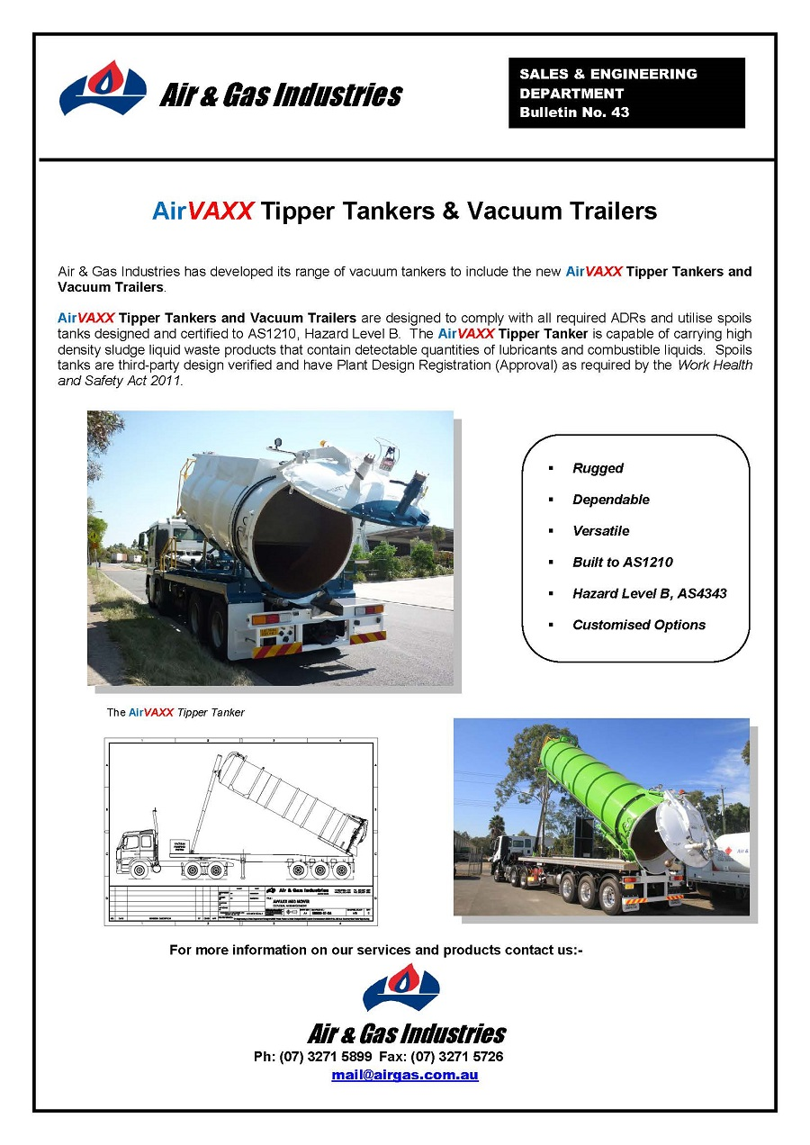 Bulletin 43_AirVAXX Tipper tankers & Vacuum Trailers